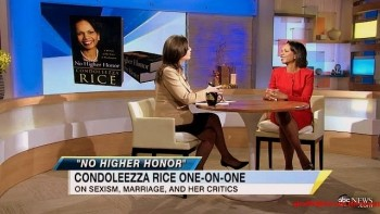 Condoleezza Rice---Interview--abc--GMA--05.11.2011--legs--red dress