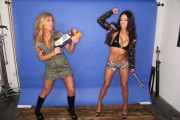 Arianny Celeste and Brittney Palmer - celebrating the 4th of July at The Chive (20xMQ)