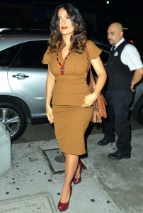 Salma Hayek - Out With Hubby in NYC (8/15)